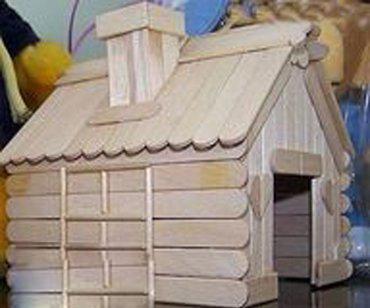 【建筑模型】冰棒棍 一次性筷子 手工制作小房子模型
